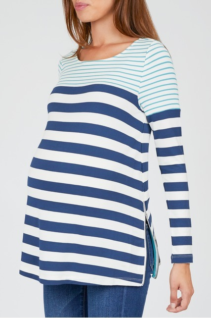 Variegated Striped Tunic