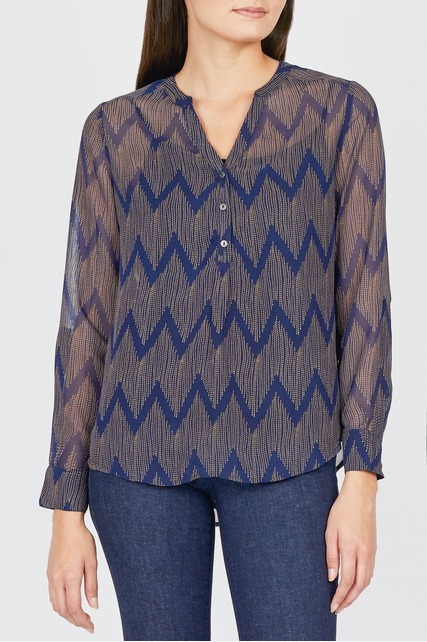 Sheer Printed Blouse