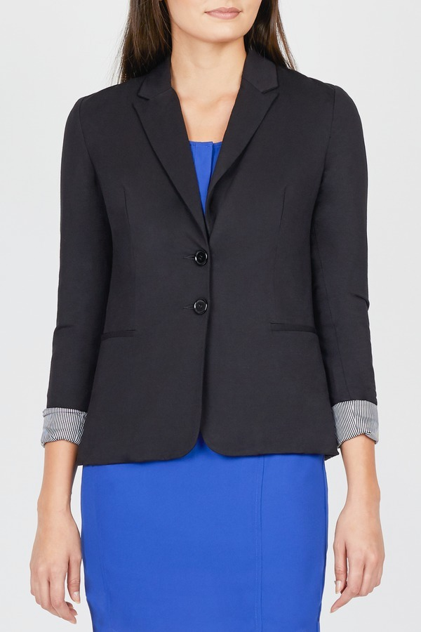 Two Button Knit Blazer