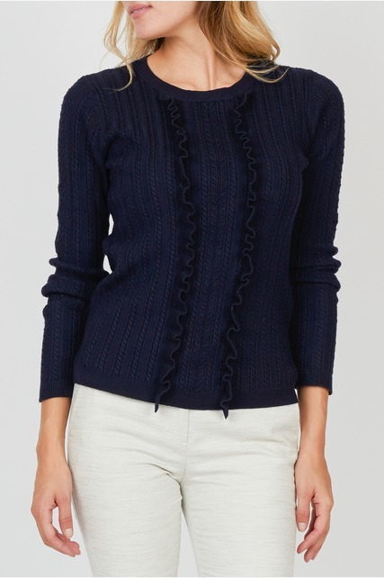Ruffle Panel Sweater