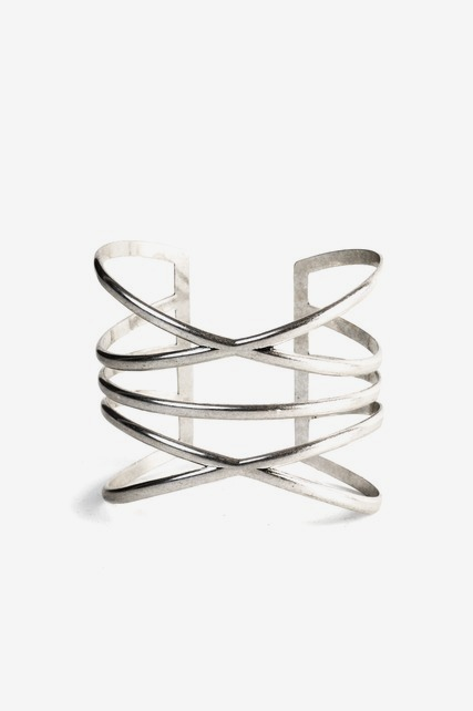 Stacked Criss Cross Cuff