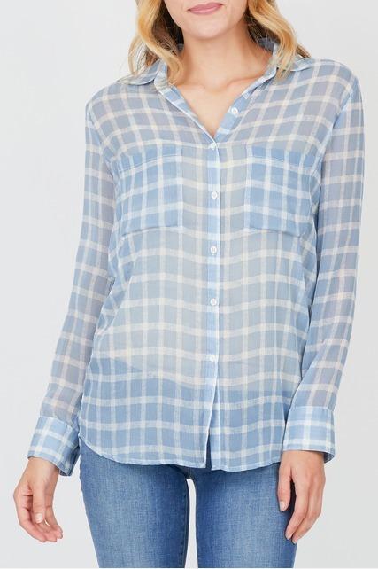 Sheer Plaid Shirt