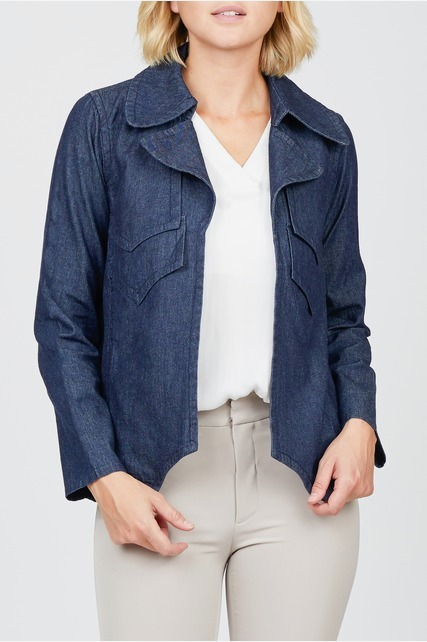 Oversized Chambray Jacket