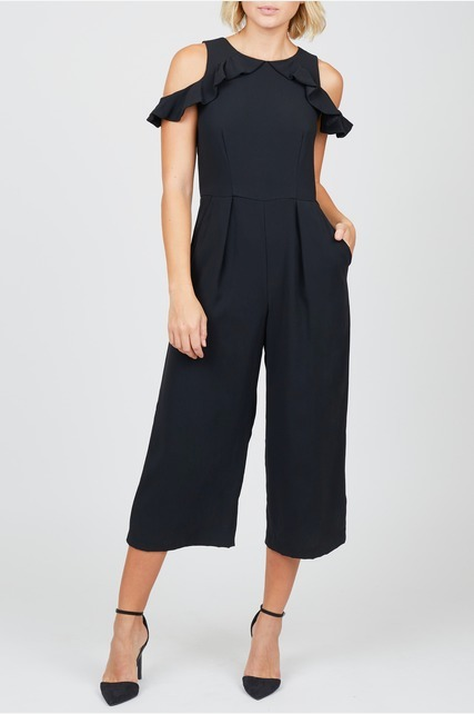 Ruffle Trim Jumpsuit