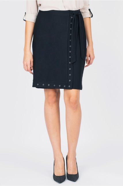 Grommet Wrap Skirt