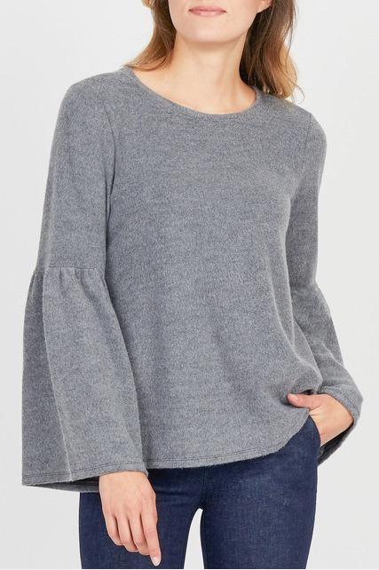 Bell Sleeve Fleece Top
