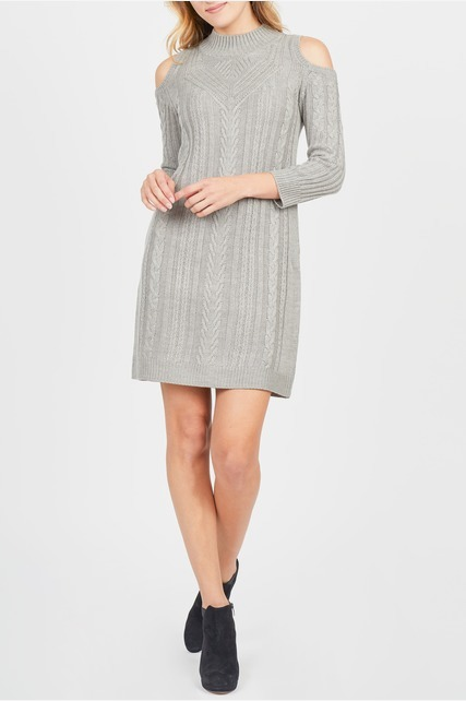 Cold Shoulder Cable Dress