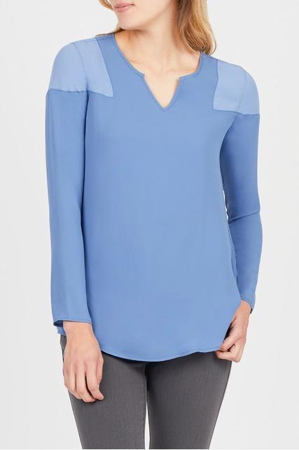 Shoulder Color Block Top