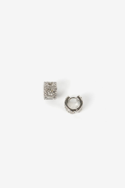Small Pave Huggie