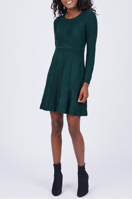 Pintuck Sweater Dress