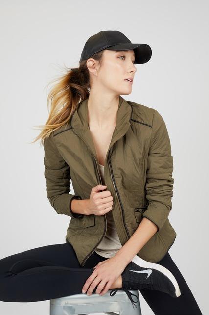 Quilted Zip Front Jacket