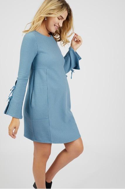 Lace Up Sleeve Dress
