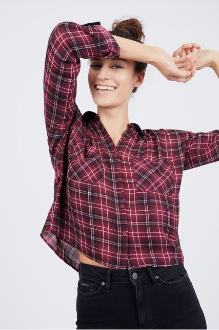 Plaid Cropped Shirt