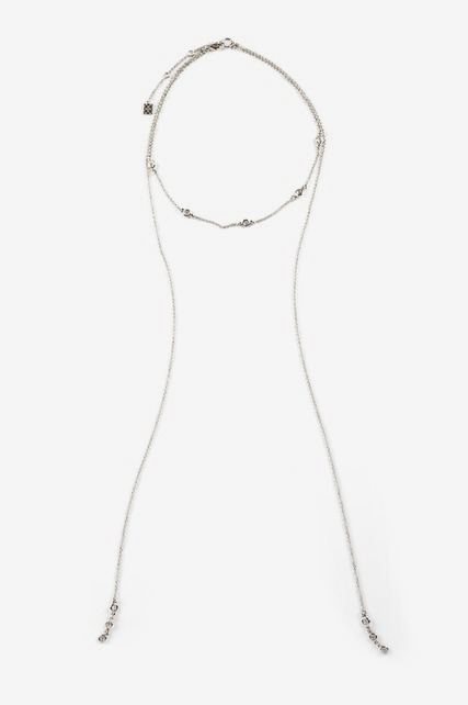 Channel Lariat Necklace