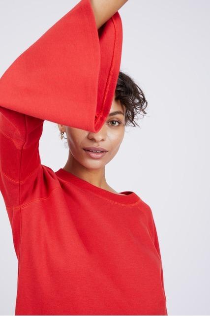 Rib Bell Sleeve Pullover