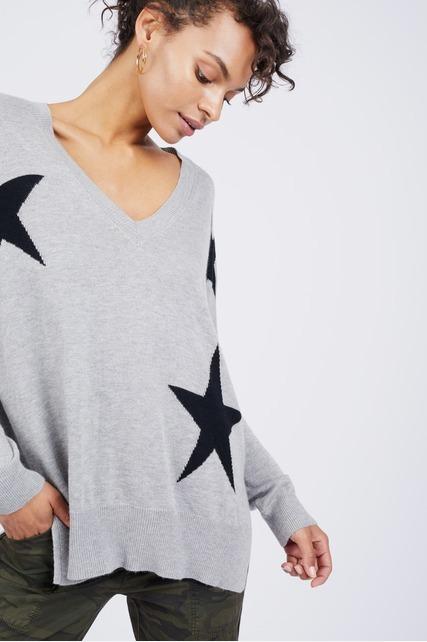 V Neck Star Sweater