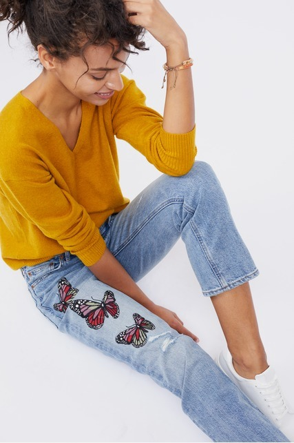 Butterfly Patch Pant