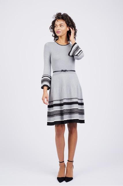 Stripe Hem Dress