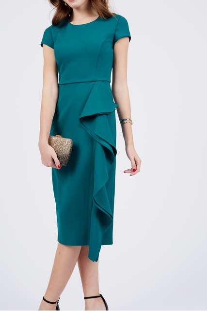 Ruffle Side Sheath