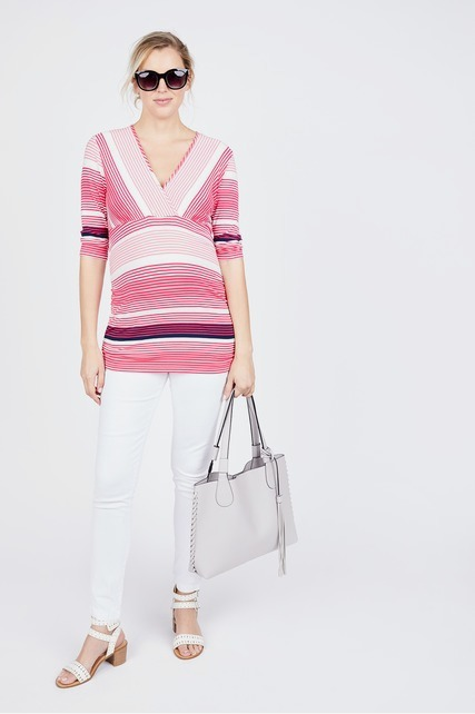 Ruched Striped Top