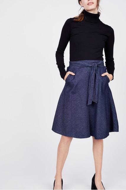 Chambray Tie Skirt