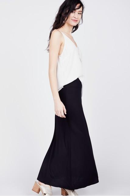 Knit Jersey Maxi Skirt