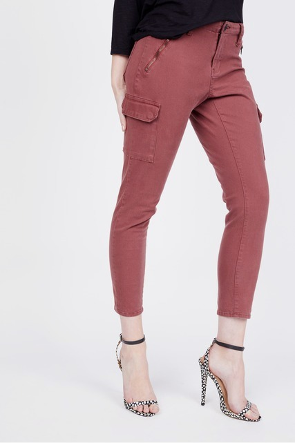 Distressed Zip Pocket Cargo Pant