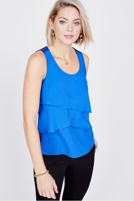 Tiered Color Block Tank