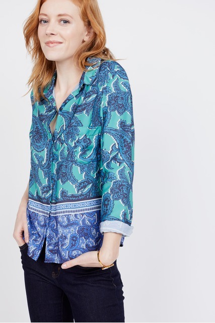 Paisley Collared Blouse
