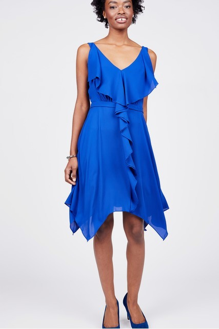 Ruffle Front Dress