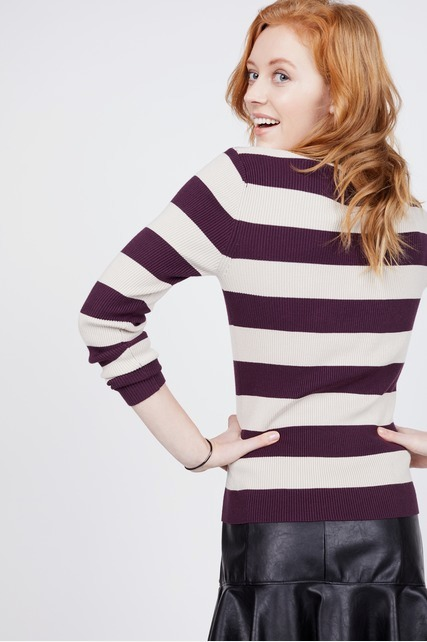 Cut Out Mock Neck Sweater