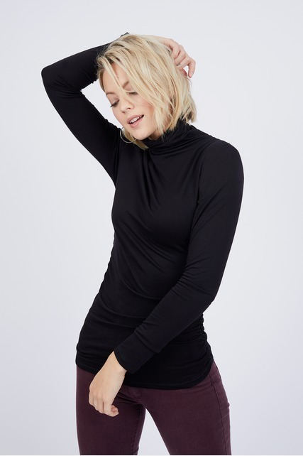 Ruched Turtleneck