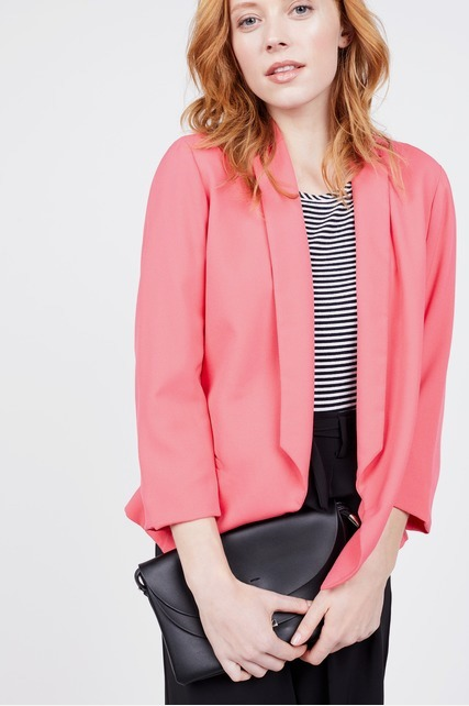 Stripe Lined Color Pop Blazer