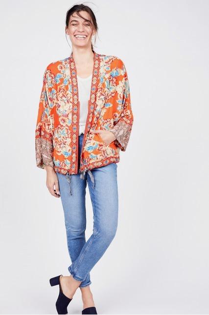 Zip Front Kimono