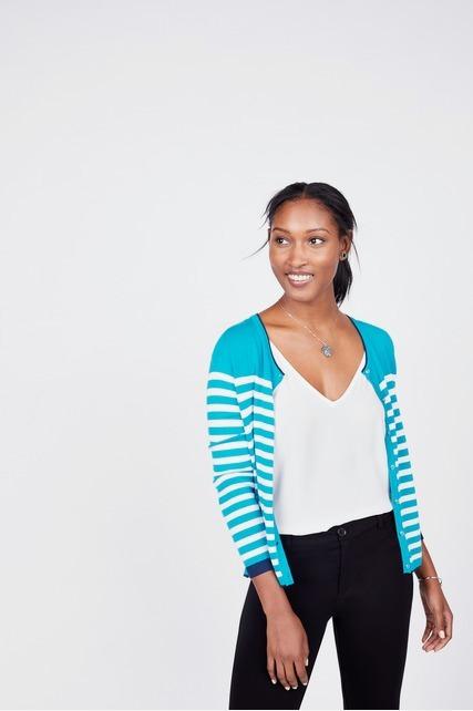 Aqua Stripe Cardigan