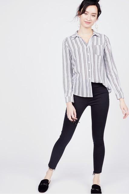 Geometric Stripe Blouse