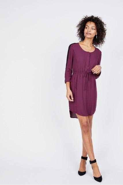 Cinch Waist Pocket Dress