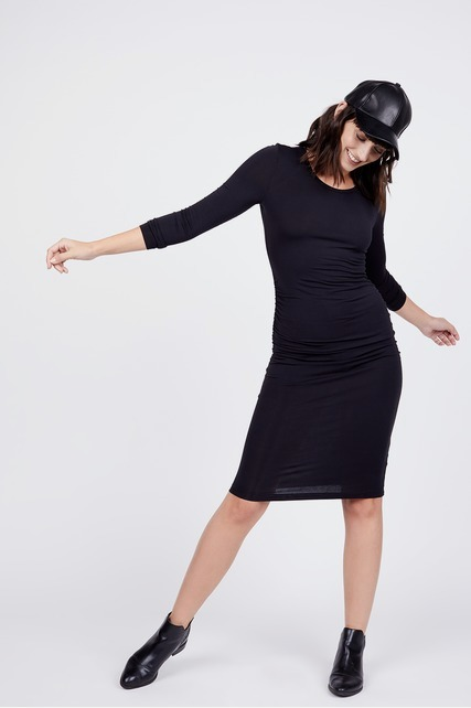Side Ruched Midi Dress