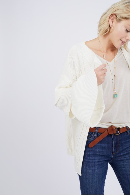 Tiered Sleeve Cardigan