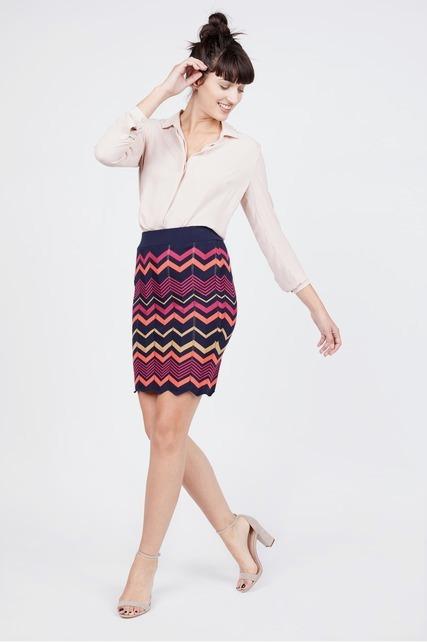 Zig Zag Sweater Skirt