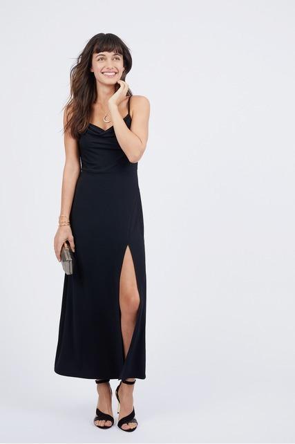 Slit Front Dress