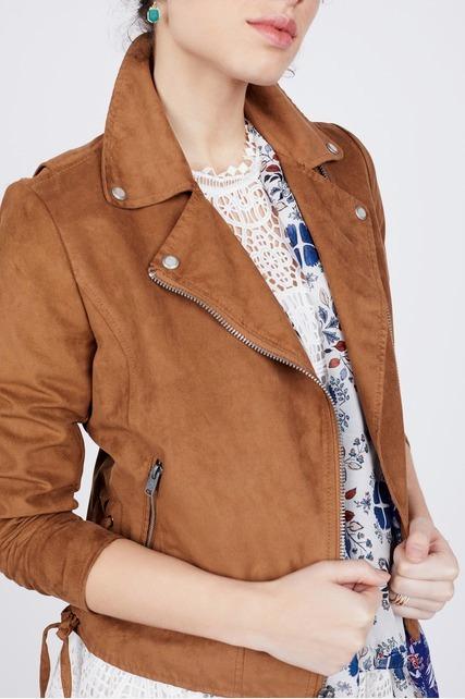Side Lace Up Moto Jacket