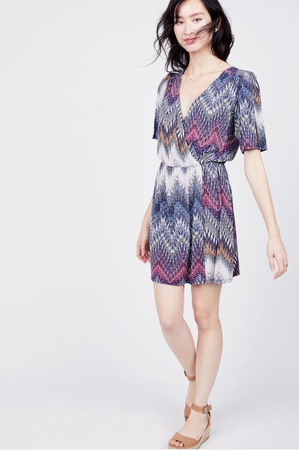 Faux Wrap Front Dress