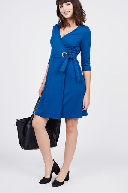 Wrap Ponte Dress