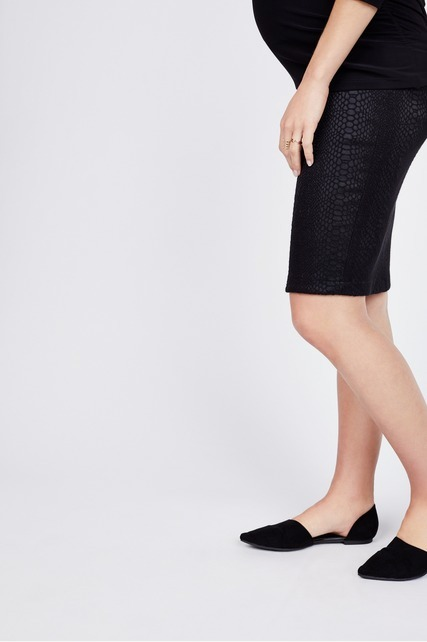 Textured Pencil Skirt
