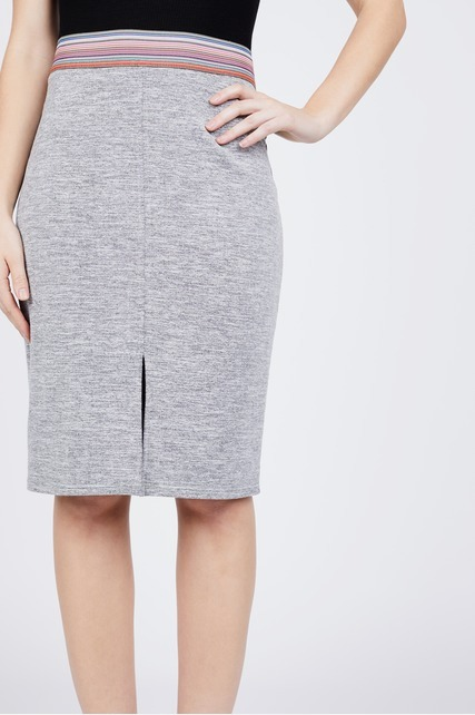 Slit Front Pencil Skirt