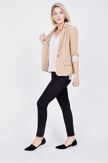 Structured Peak Lapel Blazer