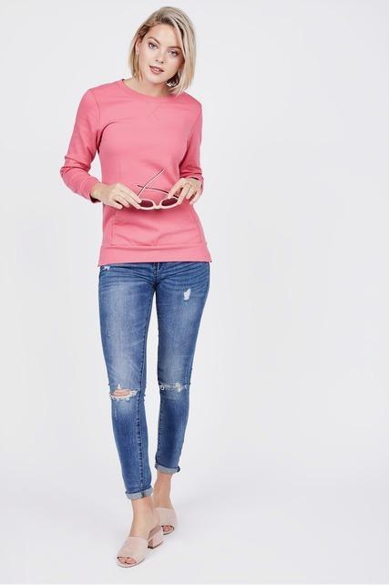 Side Zipper Sweatshirt