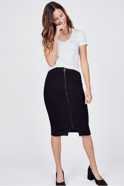Rib Sweater Skirt