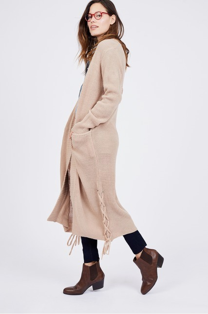 Lace Up Duster